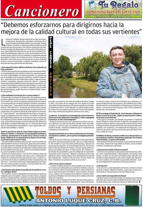 Entrevista a Pepe Cañete