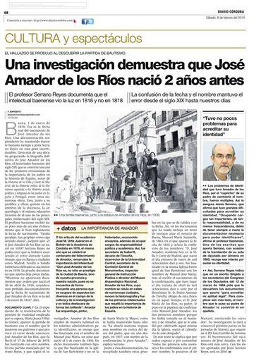 Diario Cordoba sobre A de los Rios